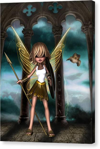 Warrior Goddess Canvas Print - Athena by Kelly Lough