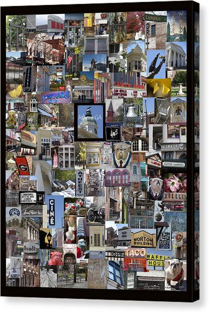 Athens Collage Canvas Print