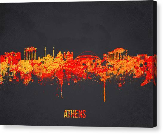 The Acropolis Canvas Print - Athens Greece by Aged Pixel