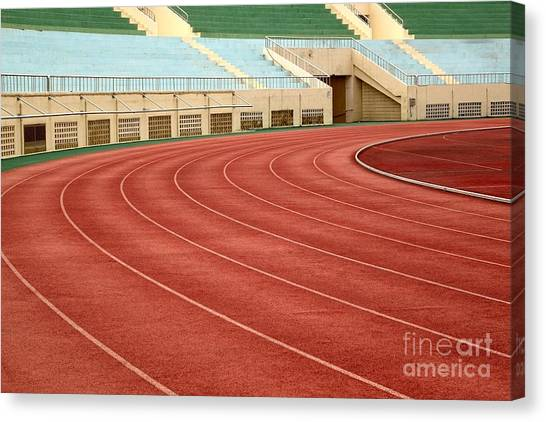 Athletic Track And Field Markings Canvas Print