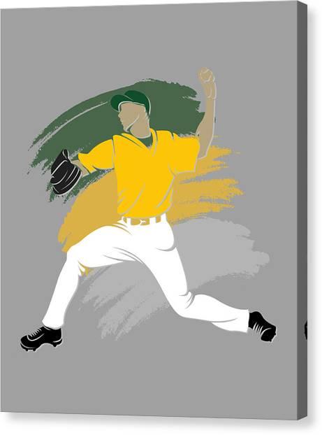 Oakland Athletics Canvas Print - Athletics Shadow Player by Joe Hamilton