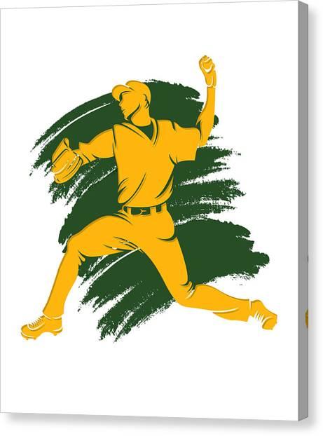 Oakland Athletics Canvas Print - Athletics Shadow Player2 by Joe Hamilton