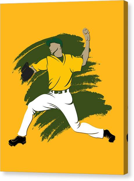 Oakland Athletics Canvas Print - Athletics Shadow Player3 by Joe Hamilton