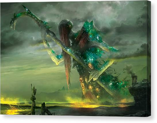 Athreos God Of Passage Canvas Print