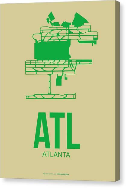 Georgia Canvas Print - Atl Atlanta Airport Poster 1 by Naxart Studio