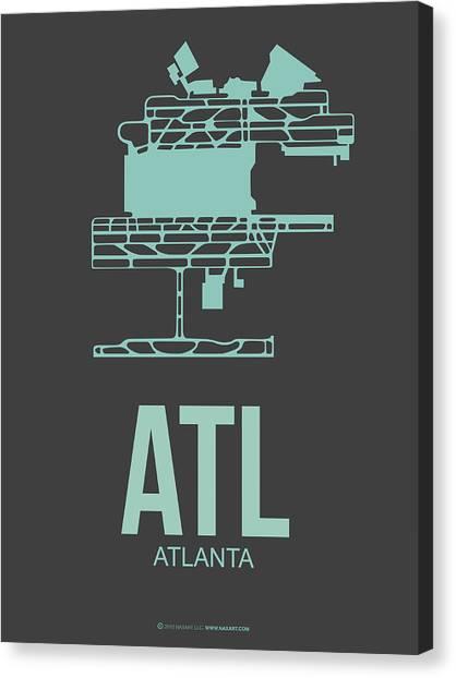 Georgia Canvas Print - Atl Atlanta Airport Poster 2 by Naxart Studio