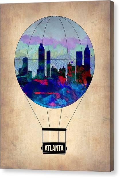 Georgia Canvas Print - Atlanta Air Balloon  by Naxart Studio