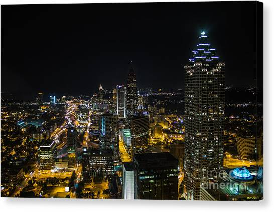 Atlanta City Lights Canvas Print