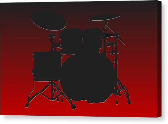 Atlanta Falcons Canvas Print - Atlanta Falcons Drum Set by Joe Hamilton