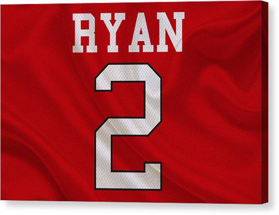 Matt Ryan Canvas Print - Atlanta Falcons Matt Ryan by Joe Hamilton