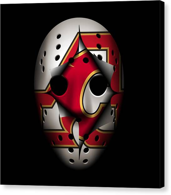 Calgary Flames Canvas Print - Atlanta Flames Become Calgary Flames by Joe Hamilton