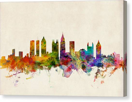 Atlanta Georgia Skyline Canvas Print