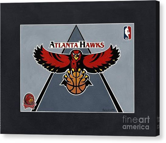Atlanta Hawks T-shirt Canvas Print