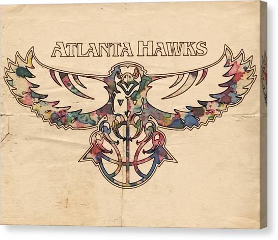 Atlanta Hawks Canvas Print - Atlanta Hawks Poster Vintage by Florian Rodarte