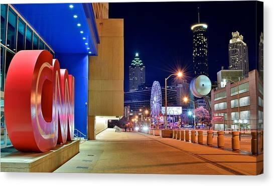 Chicago Skyline Art Canvas Print - Atlanta Outside Cnn by Frozen in Time Fine Art Photography