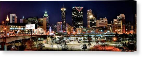 Atlanta Braves Canvas Print - Atlanta Panoramic View by Frozen in Time Fine Art Photography