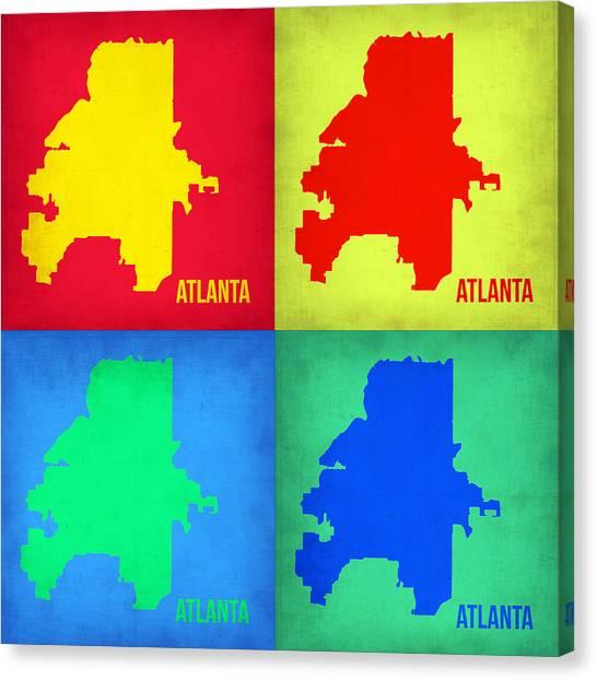 Georgia Canvas Print - Atlanta Pop Art Map 1 by Naxart Studio