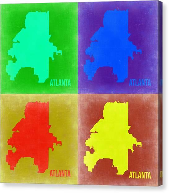 Georgia Canvas Print - Atlanta Pop Art Map 2 by Naxart Studio