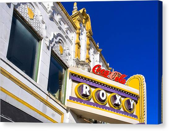 Canvas Print featuring the photograph Atlanta Roxy Theatre by Mark E Tisdale
