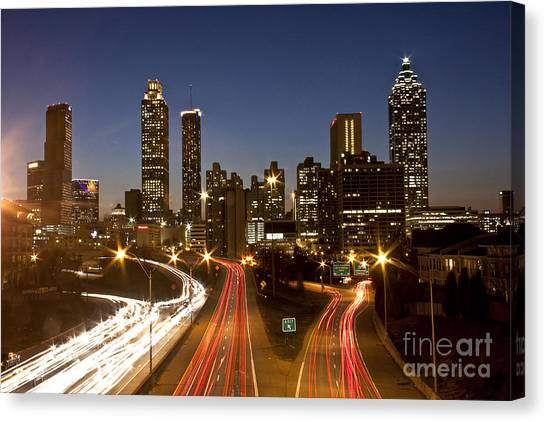 Atlanta Skyline - Jackson St Bridge Canvas Print