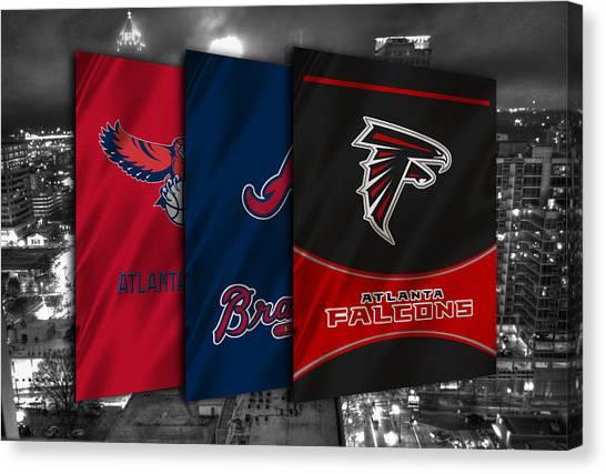 Atlanta Falcons Canvas Print - Atlanta Sports Teams by Joe Hamilton
