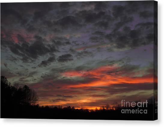 Atlanta Sunset Canvas Print