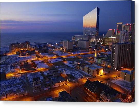 Atlantic City At Dawn Canvas Print