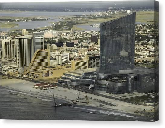 Atlantic City Casinos Canvas Print