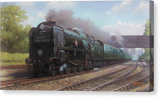 Steam Trains Canvas Print - Atlantic Coast Express by Mike Jeffries