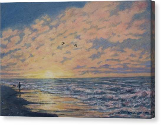 Atlantic Dawn # 2 By K. Mcdermott Canvas Print