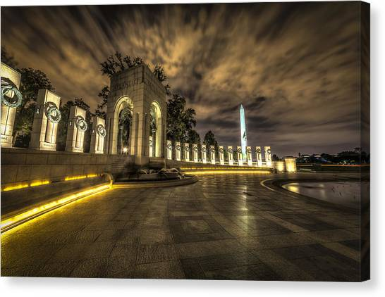 Atlantic Side Of The World War II Memorial Canvas Print