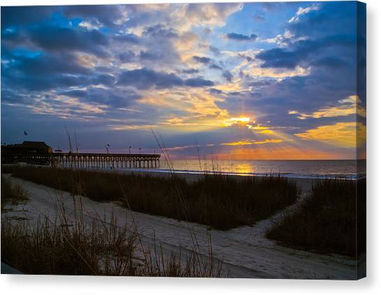 Atlantic Sunrise In March Canvas Print