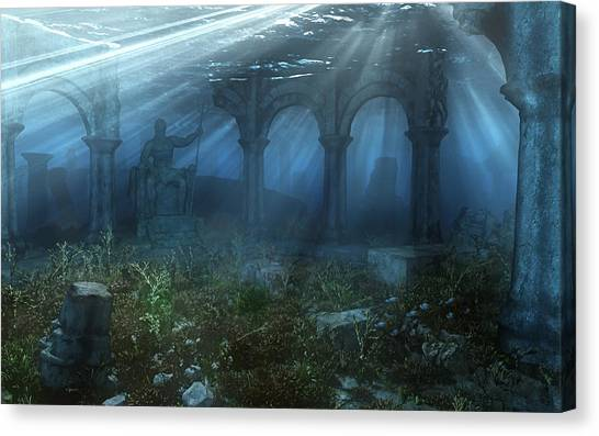 Atlantis Canvas Print - Atlantis by Cynthia Decker