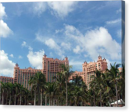 Atlantis Resort At Paradise Island Canvas Print by Teresa Schomig