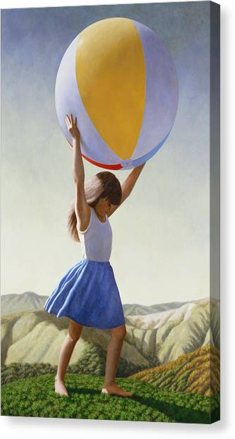 Beach Canvas Print - Atlas by David Palmer