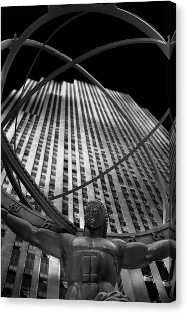 Atlas Rockefeller Center Canvas Print