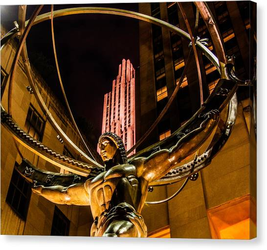 Atlas - Rockefeller Center Canvas Print