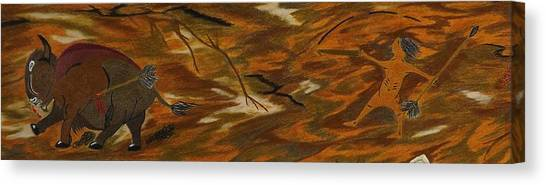 Atlatl Hunting  Canvas Print