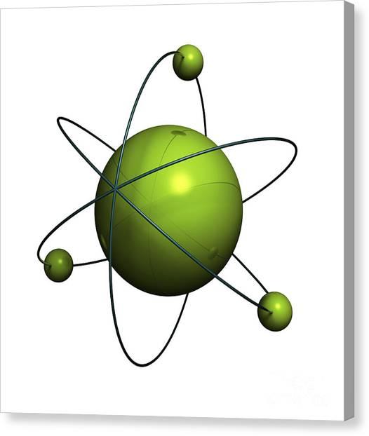 Molecule Canvas Print - Atom Structure by Johan Swanepoel