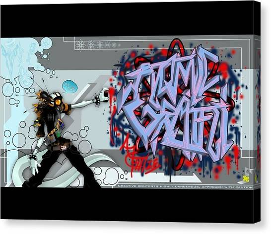 Hip Hop Canvas Print - Atomic Graffiti by Arik Bennado