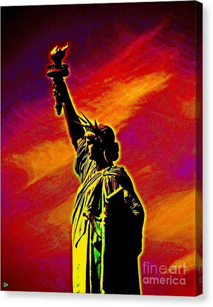 Atomic Liberty Canvas Print