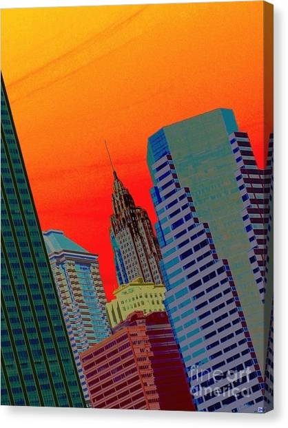 Atomic Skyline Canvas Print