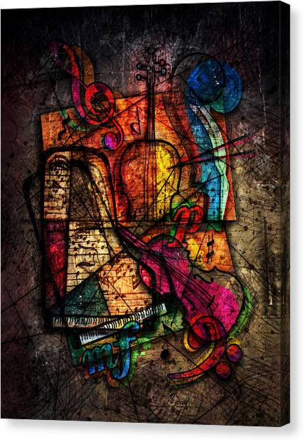 Cellos Canvas Print - Atonal Symphony by Gary Bodnar