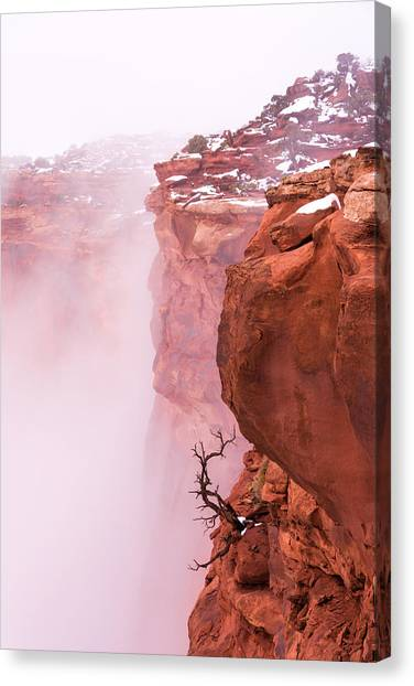 Cliffs Canvas Print - Atop Canyonlands by Chad Dutson
