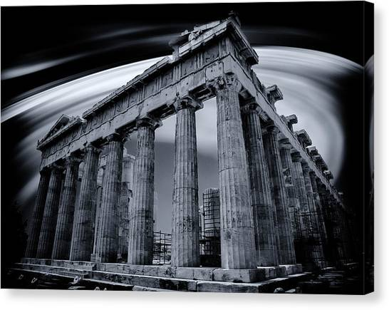 Atop The Acropolis Canvas Print