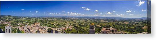 Atop The Bell Tower In San Gimignano Canvas Print by Rick Starbuck
