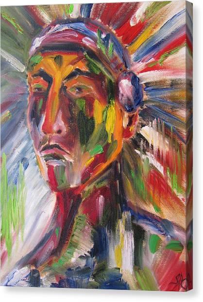 Atsila, Native American Canvas Print