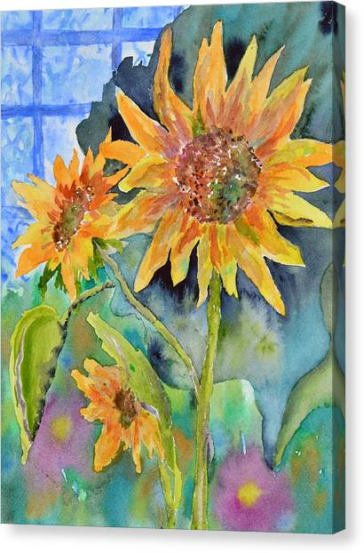 Attack Of The Killer Sunflowers Canvas Print