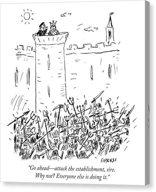 Attack The Establishment Sire Canvas Print