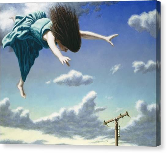 Flying Canvas Print - Attempts At Flight #19 by David Palmer